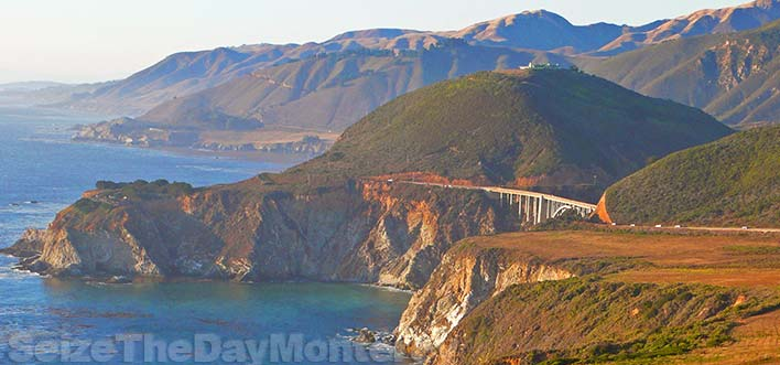 Hurricane Point offers tremendous views of the coastline and Bixby Bridge for your trip to Big Sur with kids!