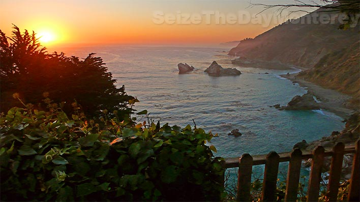 Sunsets in Big Sur are often Glorious like this one at McWay Falls
