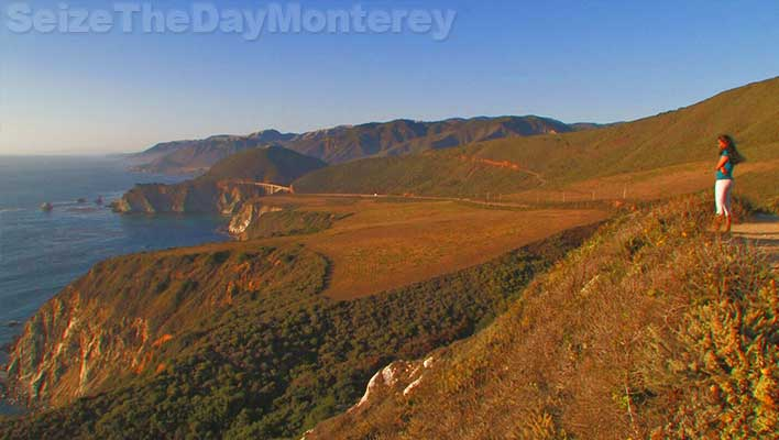 Big Sur California Hurricane Point offers gorgeous landscape views of the coastline