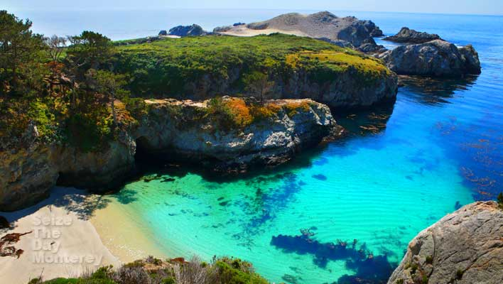 China Cove Beach at Point Lobos is one breathtaking! This Big Sur Beach will mesmerize you with it's aqua blue water!