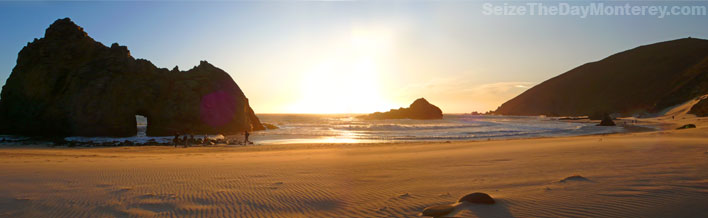 Pfeiffer Beach is one of the best Big Sur Beaches!