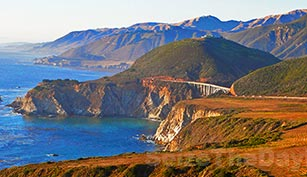 Hurricane Point in Big Sur California offers tremendous views of the Bixby Bridge nestled in the Big Sur Coastline!