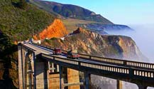 Bixby Bridge in Big Sur is a must see and is maybe 15 minutes from the Carmel Crossroads.