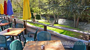 Big Sur River Inn Patio View of the Big Sur River
