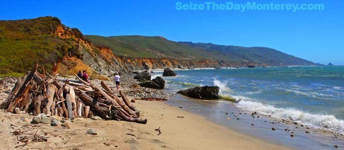 Molera State Beach in Big Sur California is a great reward to an easy 2 mile hike!