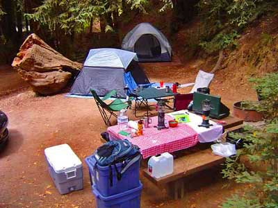 Big Sur Camping among Redwoods is Heaven!