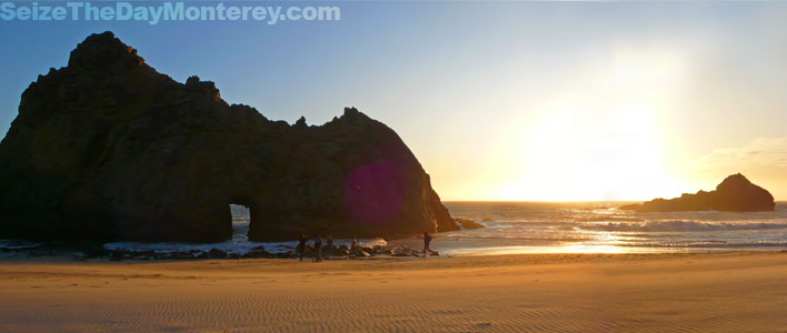 While Camping in Big Sur be sure to check out Pfeiffer Beach, it is truly a Must Do!