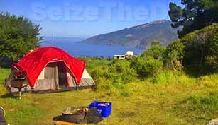 Camping while overlooking the Big Sur Coast is food for the soul!