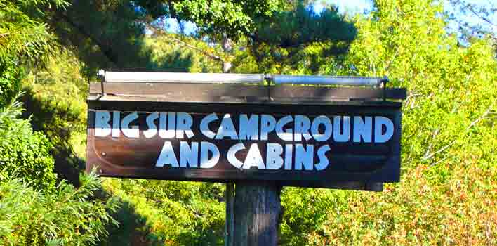 Big sur lodging with pets for Big sur campground and cabins