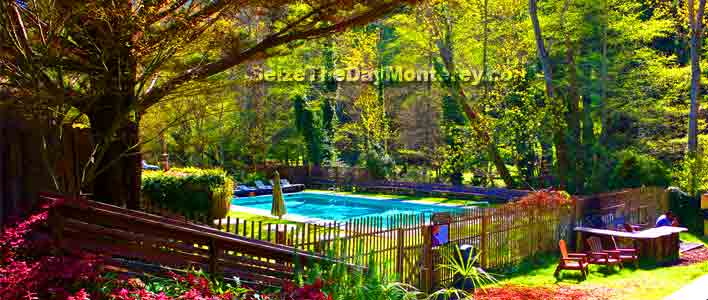 Some Big Sur Lodging options even have swimming pools like the Big Sur River Inn!