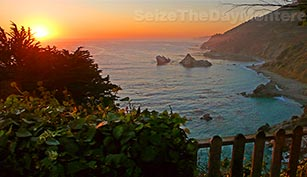 A Glorious Sunset in Big Sur California