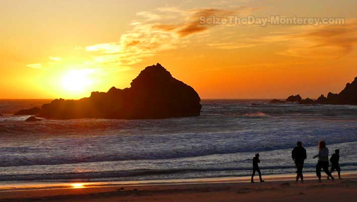 Don't miss Pfeiffer Beach Sunsets while in Big Sur with the Kids!  Do not go in the water though!!