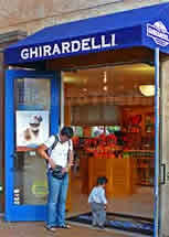 Ghirardelli on Cannery Row offer free Chocalate Samples.