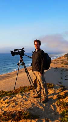 Filming a glorious Monterey Sunset from the Seaside Dunes