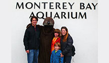 Take a picture with the Monterey Bay Aquarium Sea Otter Mascot! You'll surely put it on your facebook page!