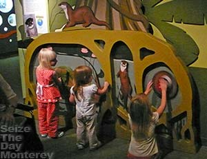 The Monterey Aquarium has a number of interactive exhibits and activities.