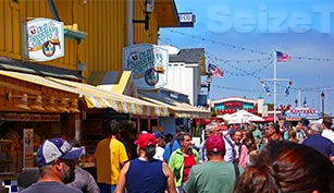 Monterey Fisherman's Wharf has great views, whale watching tours, face painters, great clam chowder, and an excellent candy shop!