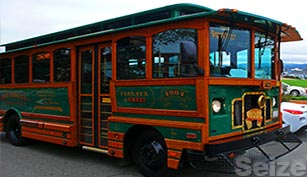 Free Monterey Trolley if fun for the kids and a great way to get around Monterey for free!