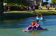 Dennis the Menace Park Paddle Boats is great fun and exercise in Monterey!!