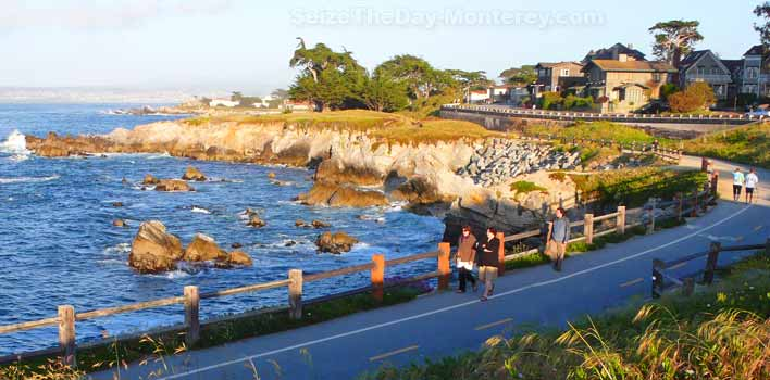 The Monterey Bay Recreational Trail is great way to experience the beauty of the Monterey Bay's coastline.  It's great exercise too!