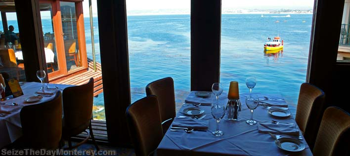 The View from the Charthouse of the Monterey Bay is absolutely stunning. One of our favorite Monterey Restaurants!