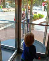 The Revolving Door at CPK is Pretty Cool, but Resist Playing in It, I know it's Hard!