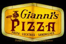 Gianni's Pizza's Yellow Sign is easy to spot from Lighthouse Ave