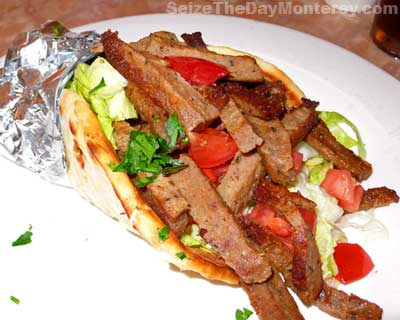 International Cuisine's Gyros are the reason why we fell in Love with this Monterey Restaurant!