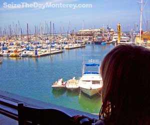 You'll get great views of the Harbor and of Monterey Beach at Sopporo!