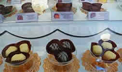 Sees Candies in Monterey California gives out free samples but chances are you'll be buying a box or two when you try them!