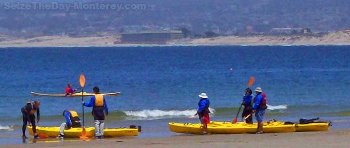 Monterey Beach is a great place for that first Kayak lesson!