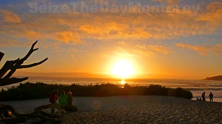 This Spectacular Sunset at Carmel Beach is one way to Seize the Day in Monterey CA!